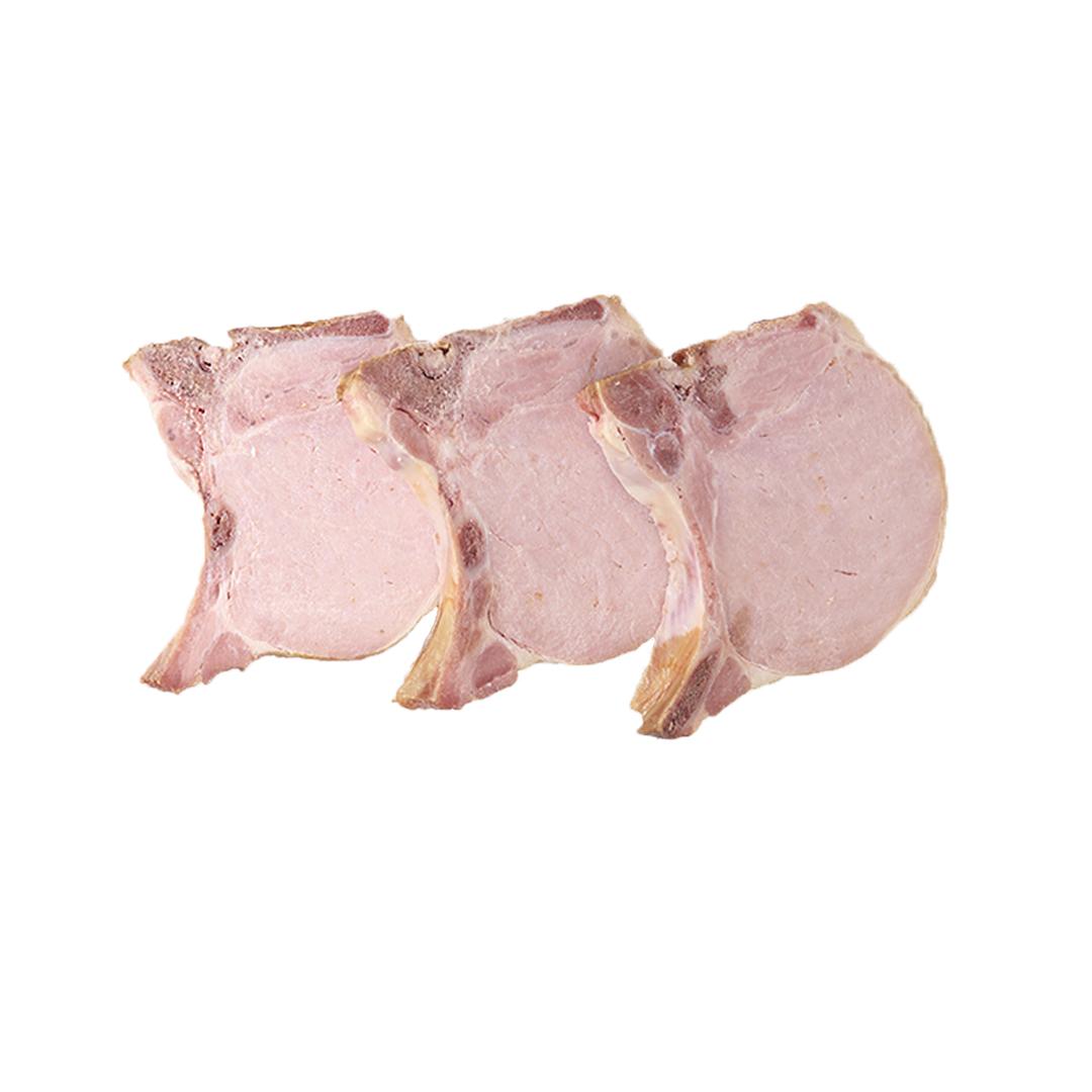 Chuleta de cerdo ahumada, lb