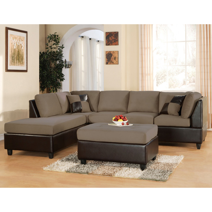 Lisbon Set- Sectional Sofa + Ottoman - Saddle Easy Rider