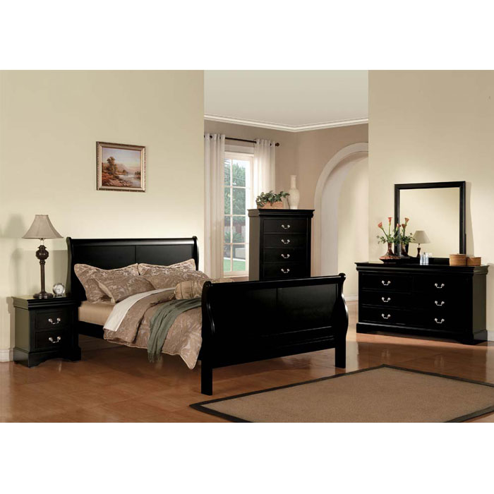 Louis Philippe Iii Queen Bedroom Set 4 Pcs
