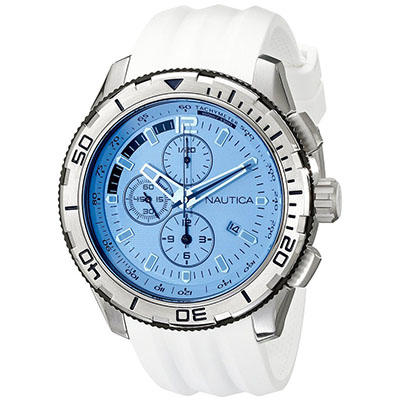Nautica Men's NAD19520G NST101 Analog Display Japanese Quartz White Watch