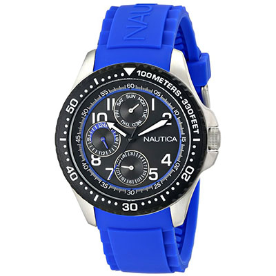 NAUTICA MEN'S N13684G NSR 200 ANAÑOG DISPLAY QUARTZ BLUE WATCH