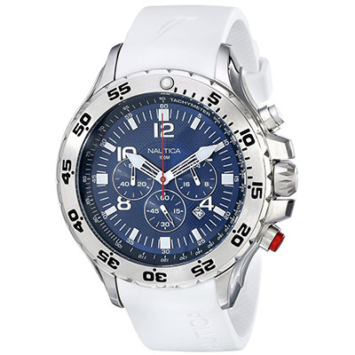 NAUTICA MEN'S N14537G NST STAINLESS STEEL WATCH