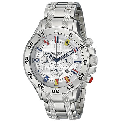 Nautica Men's N20503G NST Stainless Steel Watch