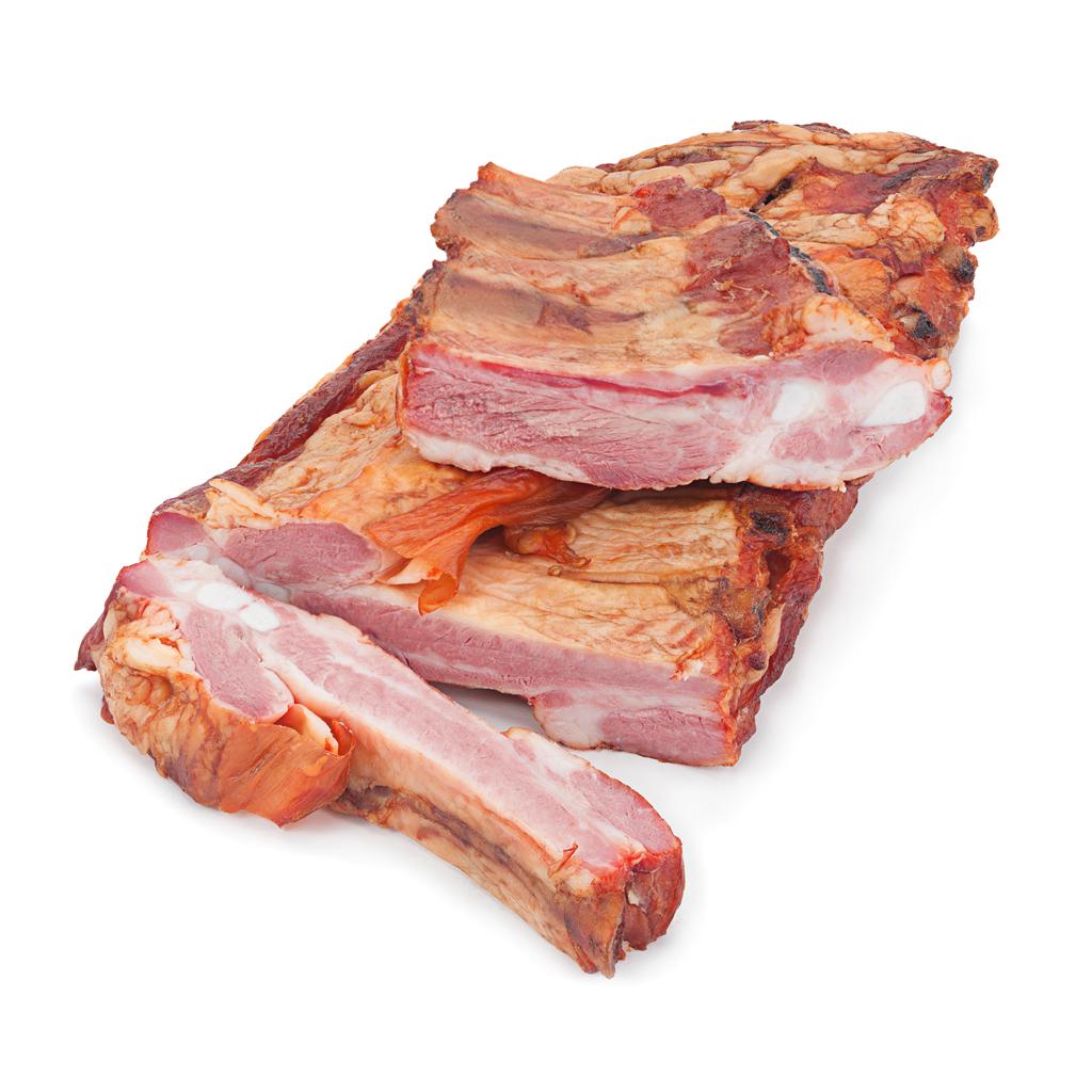 Costilla de cerdo ahumada, lb