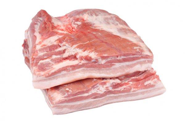 Barrigada de cerdo, lb